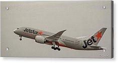 Jetstar Airways Vh Vki Boeing 787 8 Dreamliner Honolulu Hawaii Art Acrylic Print