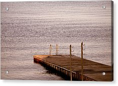 Jetty At Helleruphavn Acrylic Print by Michael Canning