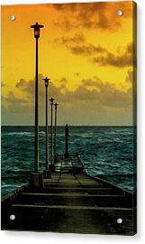 Jetty At Sunrise Acrylic Print