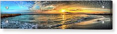 Jetty Sunrise Panorama Acrylic Print