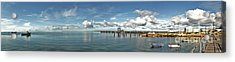 Acrylic Print featuring the photograph Jetty To Shore by Stephen Mitchell
