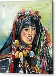 Jeune Femme Berbere De Atlas Marocain Acrylic Print by Josette SPIAGGIA
