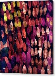 Jewel Drops- Abstract Art By Linda Woods Acrylic Print