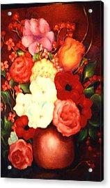 Jewel Flowers Acrylic Print