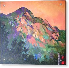 Jewel Mountain 1. Acrylic Print