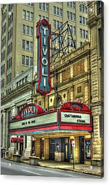 Jewel Of The South Tivoli Chattanooga Historic Theater Art Acrylic Print