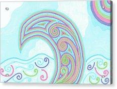 Acrylic Print featuring the drawing Jewel Sea by Jill Lenzmeier