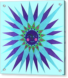 Jeweled Sun Acrylic Print