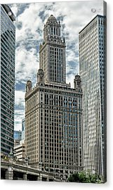 Jewelers Building Chicago Acrylic Print by Alan Toepfer