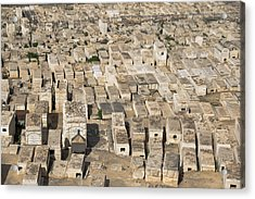 Jewish Cemetery On Mount Of Olives Acrylic Print