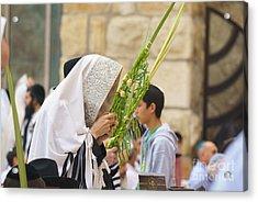 Jewish Sunrise Prayers At The Western Wall, Israel 6 Acrylic Print