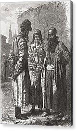 Jews Of Tashkent, Capital Of Acrylic Print by Vintage Design Pics
