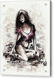 Jezebel Acrylic Print by Rachel Christine Nowicki