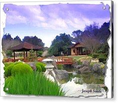 Acrylic Print featuring the photograph Jg-0021 Kotaji Lantern by Digital Oil