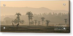 Jharkhand Early Morning Acrylic Print by Angie Bechanan
