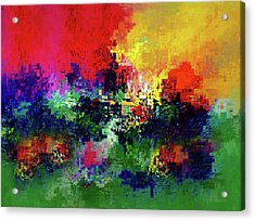 Jigsaw Of Life Abstract Acrylic Print