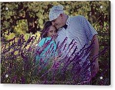 Jill Purple Acrylic Print