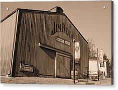 Jim Beam Distillery Sepia Acrylic Print by Lynnette Johns