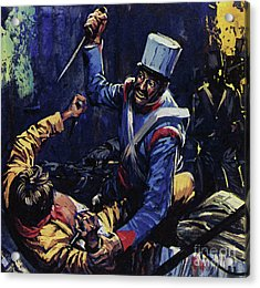 Jim Bowie Is Said To Have Been The Last Texan Alive At The Alamo  Acrylic Print by Luis Arcas Brauner