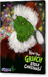 Jim Carrey's Grinch Acrylic Print by Joseph Burke