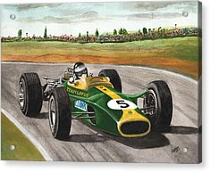 Jim Clark Natural Born Racer Acrylic Print