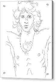 Jim Morrison Acrylic Print by Angela Murray