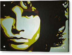 Jim Morrison Acrylic Print by Ashley Price