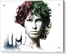 Jim Morrison Acrylic Print by Elaine Manley