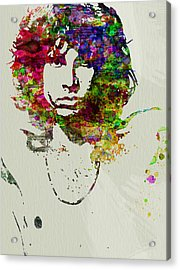 Jim Morrison Acrylic Print by Naxart Studio