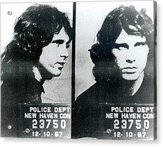 Jim Morrison Mug Shot Horizontal Acrylic Print