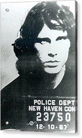 Jim Morrison Mug Shot Vertical Acrylic Print by Tony Rubino