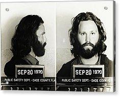 Jim Morrison Mugshot Acrylic Print