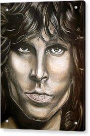 Jim Morrison Acrylic Print by Zach Zwagil