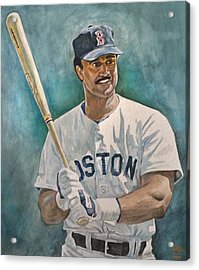 Jim Rice Acrylic Print by Nigel Wynter