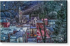 Jim Thorpe Pennsylvania In Winter #1 Acrylic Print
