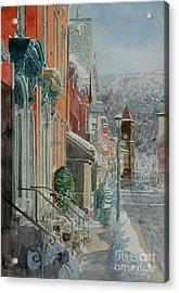 Jim Thorpe, Snow Acrylic Print