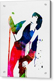 Jim Watercolor Acrylic Print by Naxart Studio