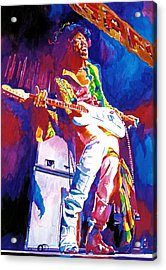 Jimi Hendrix - The Ultimate Acrylic Print by David Lloyd Glover