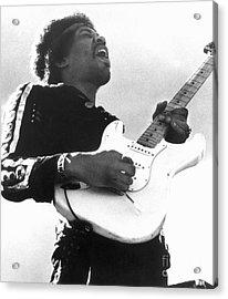 Jimi Hendrix (1942-1970) Acrylic Print by Granger