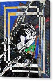 Jimi Hendrix 3 Acrylic Print by Tim Allen