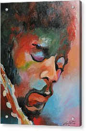 Jimi Hendrix At Monterrey Acrylic Print