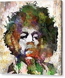 Jimi Hendrix Acrylic Print by Bobby Zeik