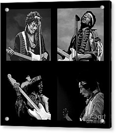 Jimi Hendrix Collection Acrylic Print by Meijering Manupix