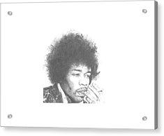 Jimi Hendrix Acrylic Print by Dan Lamperd