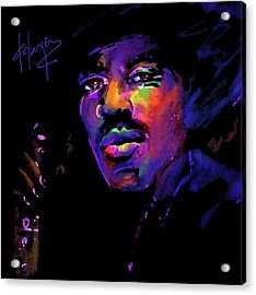 Acrylic Print featuring the painting Jimi Hendrix by DC Langer