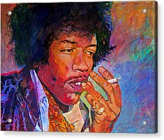 Jimi Hendrix Dreaming Acrylic Print