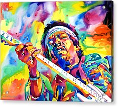 Jimi Hendrix Electric Acrylic Print by David Lloyd Glover