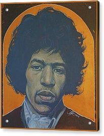 Jimi Hendrix Acrylic Print by Jovana Kolic