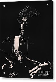 Jimi Hendrix Acrylic Print by Kathleen Kelly Thompson