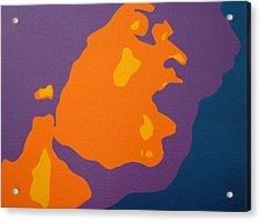 Jimi Hendrix Acrylic Print by Michael Ringwalt